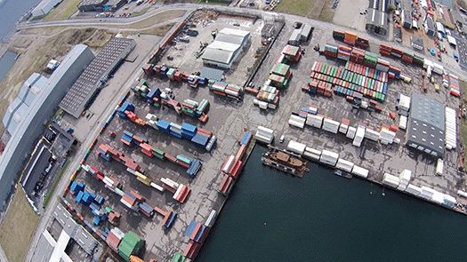 Container Care billed tage med drone