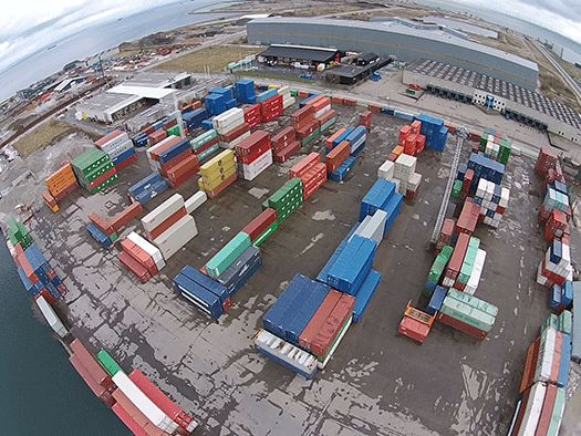 Container Care1 foto taget med drone